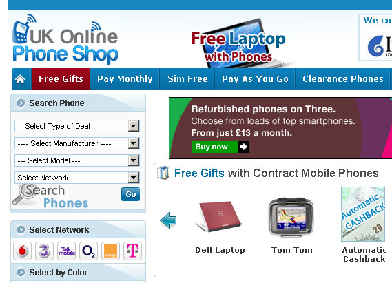 UK Online Phone Shop
